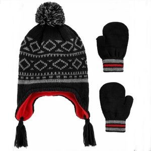 Carter's NWT Knit hat mittens set